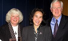 Bonnie Hardwick, Dr. Mochizuki, President Donahue