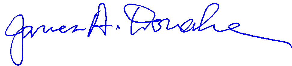 James A. Donahue signature
