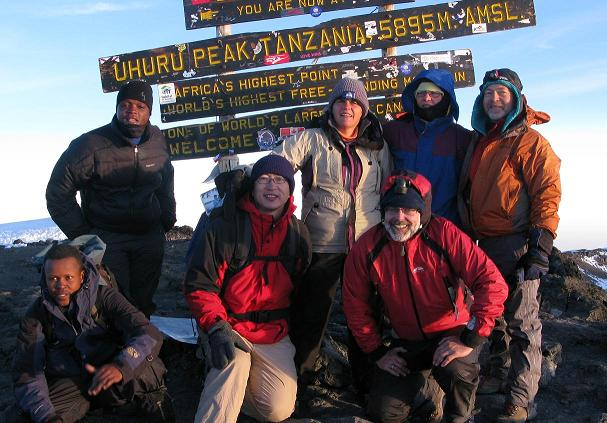On top of Mt. Kilimanjaro, photo by Paul Jacobson