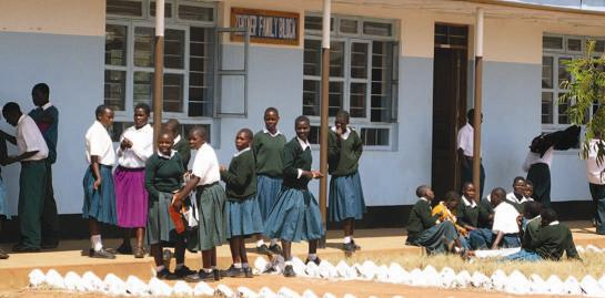 Students at Magulilwa Secondary School, photo by Paul Jacobson