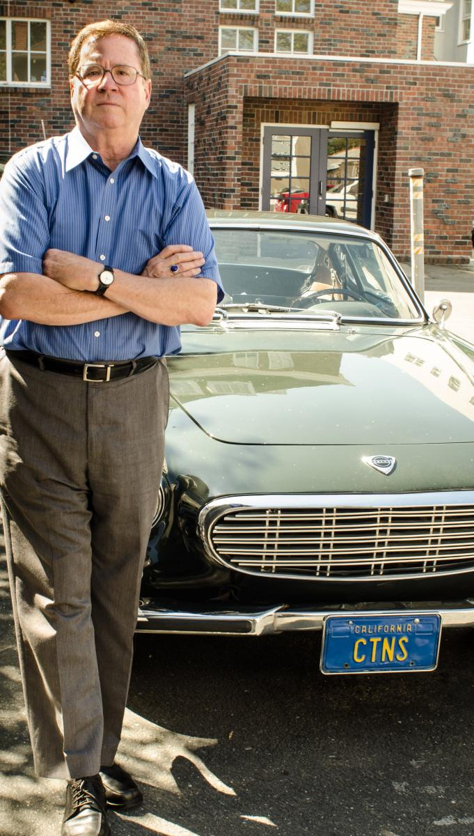 Bob Russell with his 1967 Volvo P1800