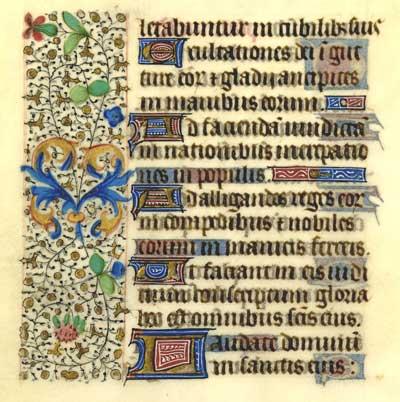 orae Beatae Mariae Virginis (Book of Hours), fragment, uterine vellum,  French 1440-1460