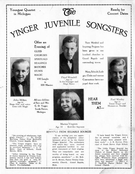 Yinger Juvenile Songsters